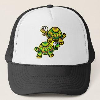 2 Cute Cartoon Turtles Trucker Hat