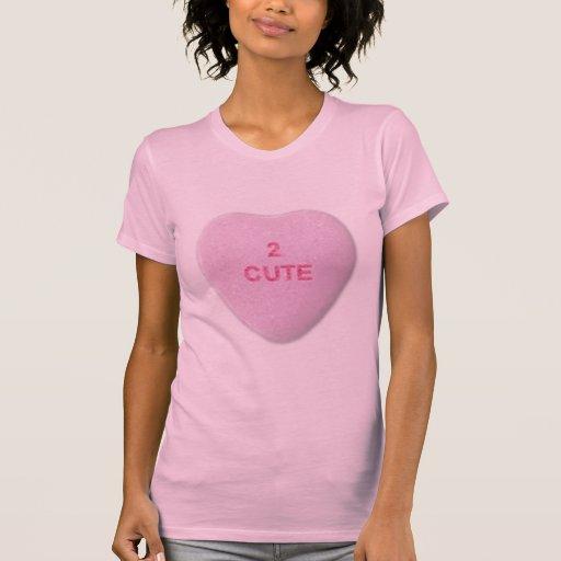 2 Cute Heart - Pink Tee Shirts