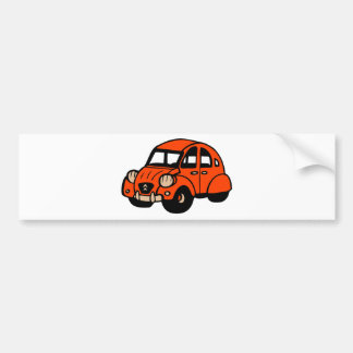 2 cv vintage french car bumper sticker