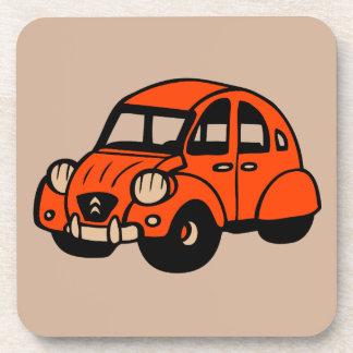 2 cv vintage french car drink coaster