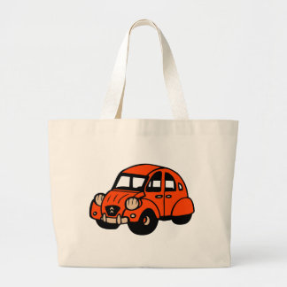 2 cv vintage french car large tote bag