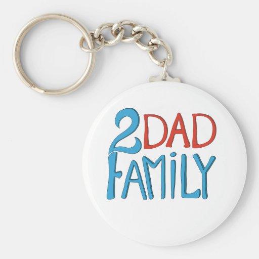 2 Dad Family Keychain