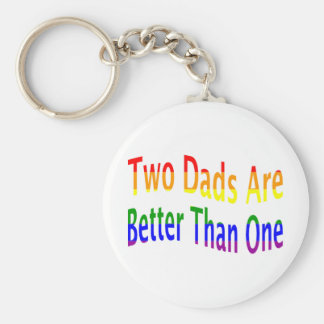 2 Dads Are Better (rainbow) Keychain