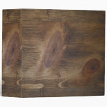 """2"""" Dark Brown Rustic Wood Look Background Binders"""