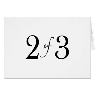 2 de 3 (niño medio) tarjeta