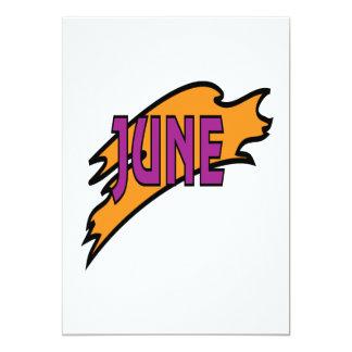 """2 de junio invitación 5"""" x 7"""""""