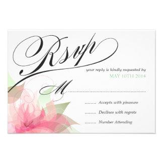 2 de lujo florales del rosa del Stargazer de RSVP Anuncio
