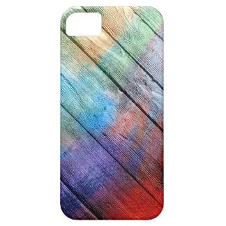 #2 de pintura de acrílico de madera iPhone 5 carcasa