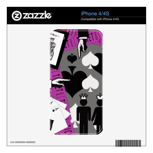 2 de un rosa bueno skins para iPhone 4S