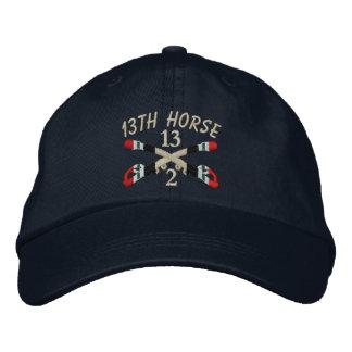 2-décimotercero La caballería Iraq cruzó el gorra Gorro Bordado