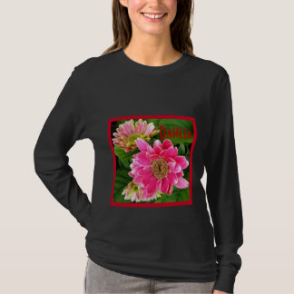 2 Deep Pink Dahlias T-Shirt