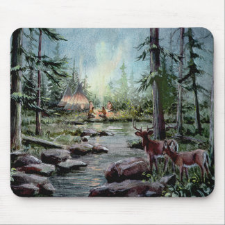 2 DEER WATCH by SHARON SHARPE Mouse Pad