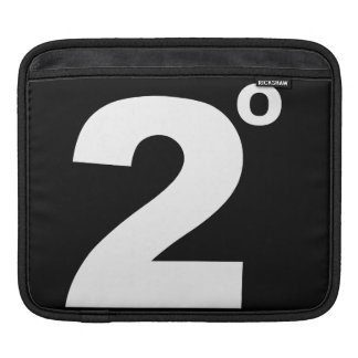 2 degrees of climate change ipad sleeve