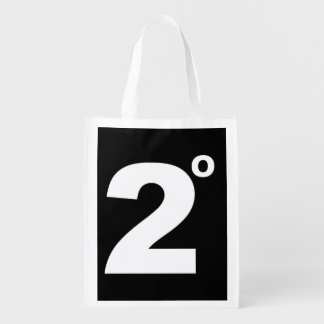 2 degrees of climate change reuseable bag grocery bags