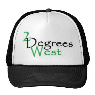 2 degrees west no compass hat