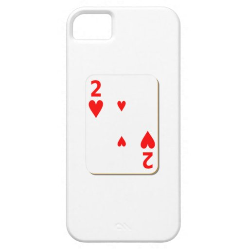 2 del naipe de los corazones iPhone 5 Case-Mate cárcasa