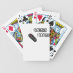 2 depressed 2 text back bicycle playing cards