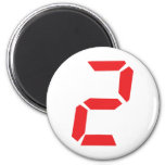 2 despertador de dos rojos digital iman para frigorífico