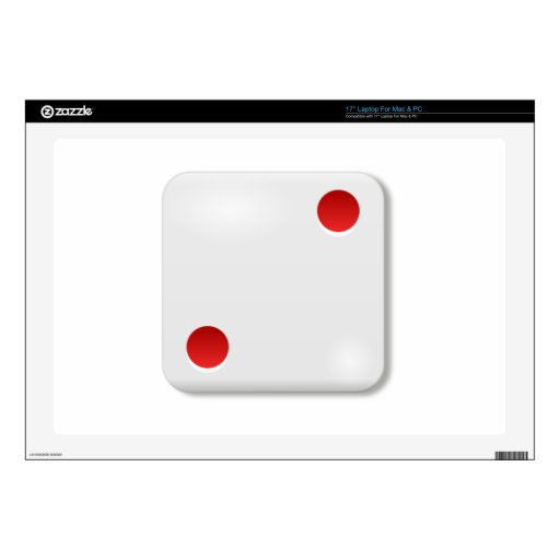 """2 Dice Roll Decals For 17"""" Laptops"""