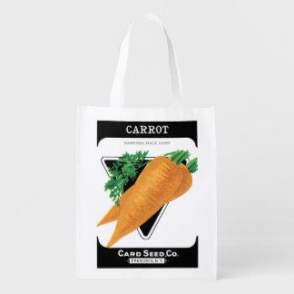 2 diversos Veggies del arte de la etiqueta del Bolsas Reutilizables