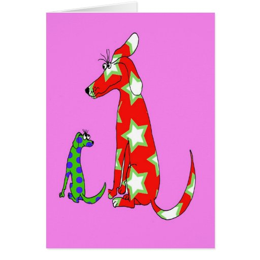 2 dogs cards