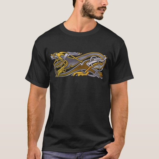 2 dogs -gold_silver blk T-Shirt