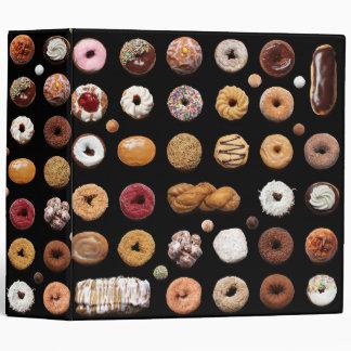 "2"" Dotty Donuts 3-ring binder (black)"