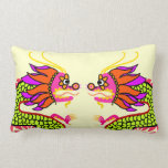 2 dragones chinos almohadas