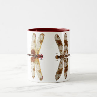 2 Dragonflies Two-Tone Coffee Mug