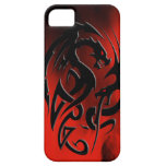 2 Dragons black iPhone 5 Cases