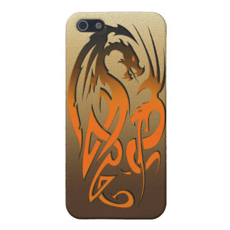 2 Dragons bronze Cover For iPhone SE/5/5s