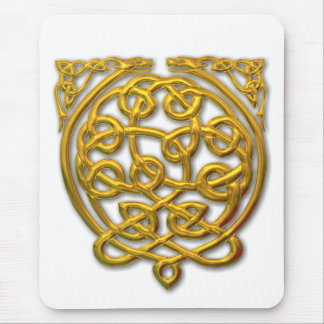 2 dragons-gold mouse pad