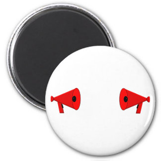 2 dueling bullhorns 2 inch round magnet