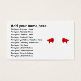2 dueling bullhorns business card