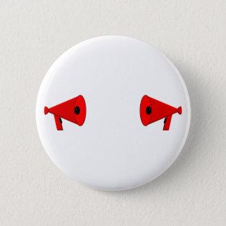 2 dueling bullhorns button