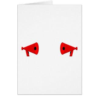 2 dueling bullhorns card