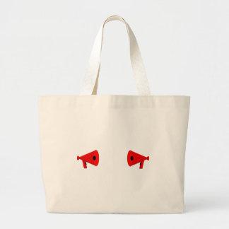 2 dueling bullhorns large tote bag