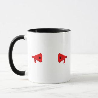 2 dueling bullhorns mug