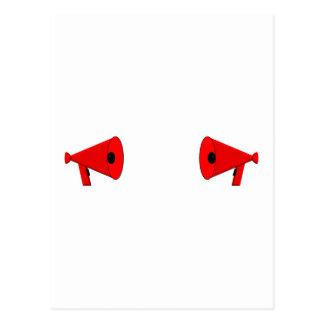 2 dueling bullhorns postcard