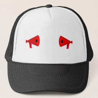 2 dueling bullhorns trucker hat