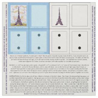2 Eiffel Tower Pointillism Brooch Pattern fabric
