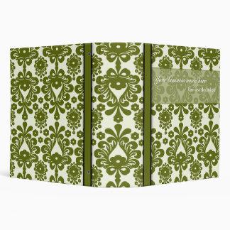 "2"" elegant olive damask business avery binder"