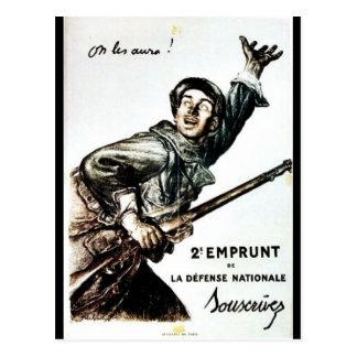 2 Emprunt De La Defense Nationale Postcard