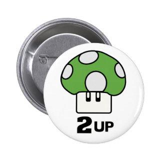 2 encima del botón de la seta pin redondo de 2 pulgadas