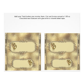 """2 envolturas de encargo de la barra de caramelo de folleto 8.5"""" x 11"""""""