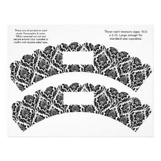 2 envolturas de encargo de la magdalena del diseño tarjetas publicitarias