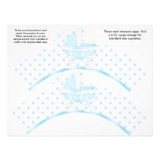 2 envolturas personalizadas bebé de la magdalena d tarjetones