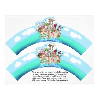 2 envolturas personalizadas bebé de la magdalena d tarjeton