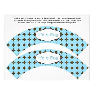 2 envolturas personalizadas bebé de la magdalena d tarjetas informativas
