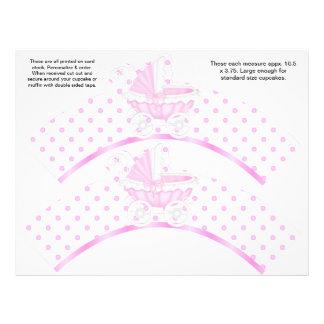 2 envolturas personalizadas bebé rosado de la magd tarjetas publicitarias